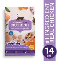 [Multiple Sizes] Rachael Ray Nutrish Longevity Natural Dry Cat Food, Chicken with Chickpeas & Salmon Recipe