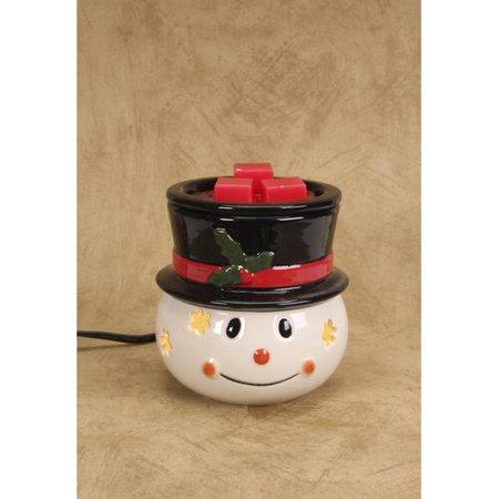 Darice Ceramic Wax Warmer: Snowman Design