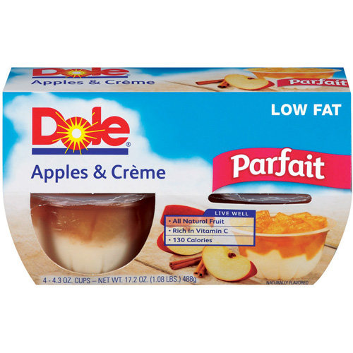 Dole Apples & Creme Parfait, 17.2 oz
