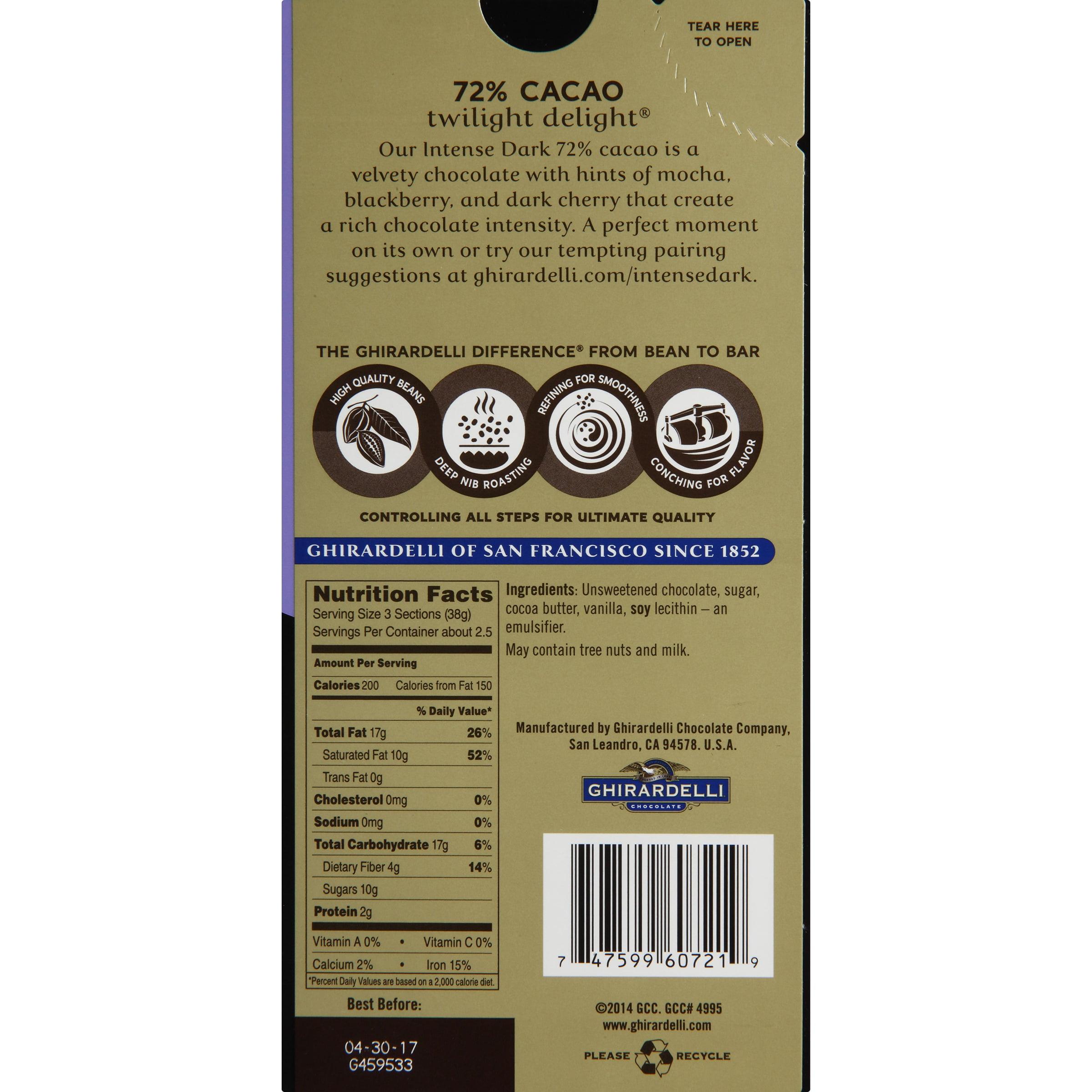 Ghirardelli Chocolate Intense Dark Twilight Delight 72 ...