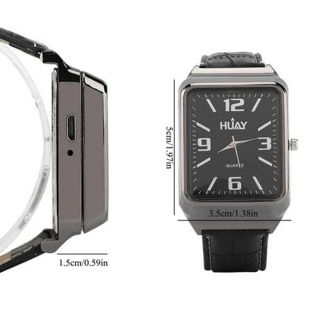 Ejoyous 2-in-1 Men Fashion Quartz Wrist Watch & USB Rechargeable Flameless Cigarette Lighter Male Gift,Watch Lighter, Man Watch Light