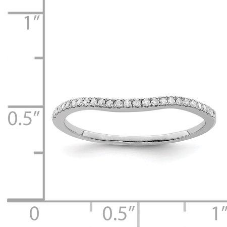925 Sterling Silver Rhodium Plated Diamond Wrap Ring - image 1 de 2