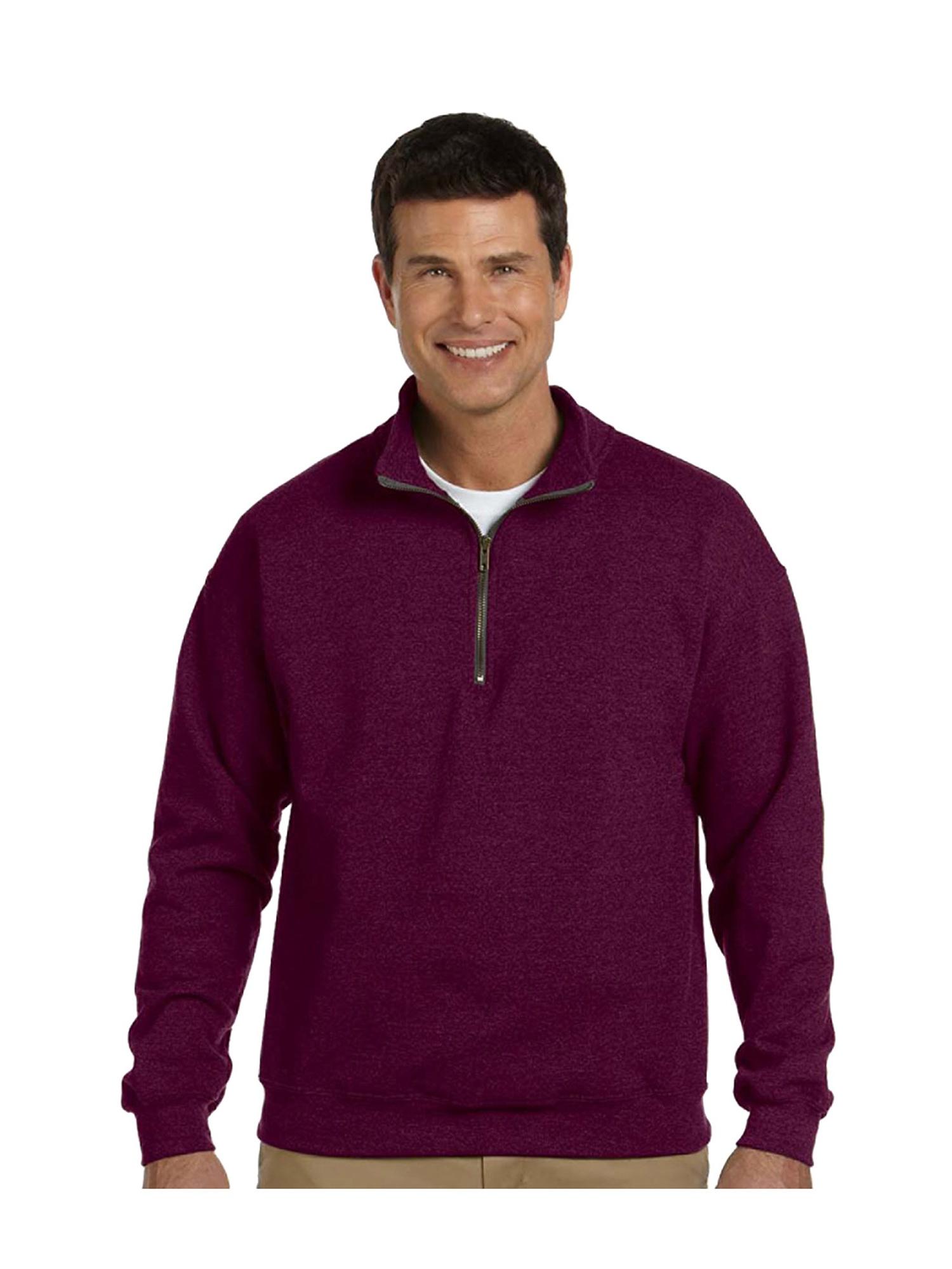 Gildan Men's Contrast Vintage 1/4 Zip Cadet Collar Sweatshirt, Style G18800