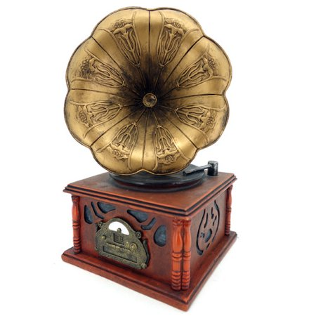 Kmp Gifts Antique Gramophone Replica Piggy Bank