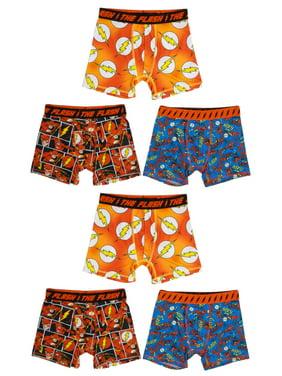 Flash, Boys Underwear, 6 Pack Boxer Briefs (Little Boys & Big Boys)