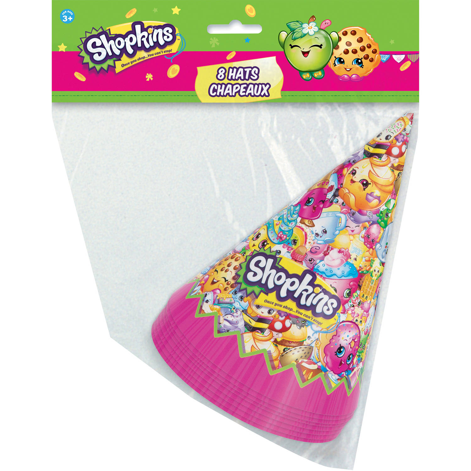 Shopkins Party Hats, 8ct