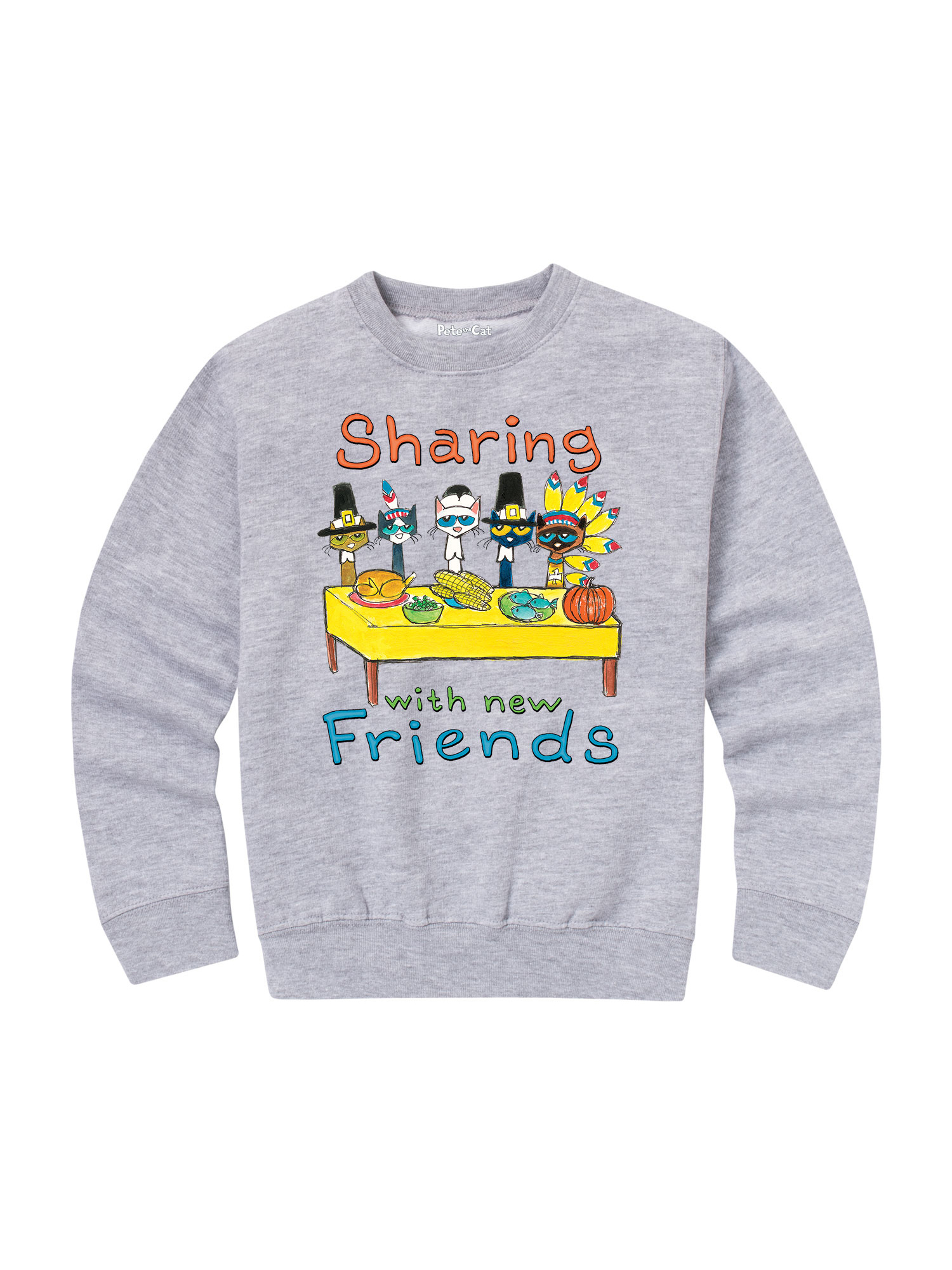 pete the cat sharing with new friends - toddler crew fleece