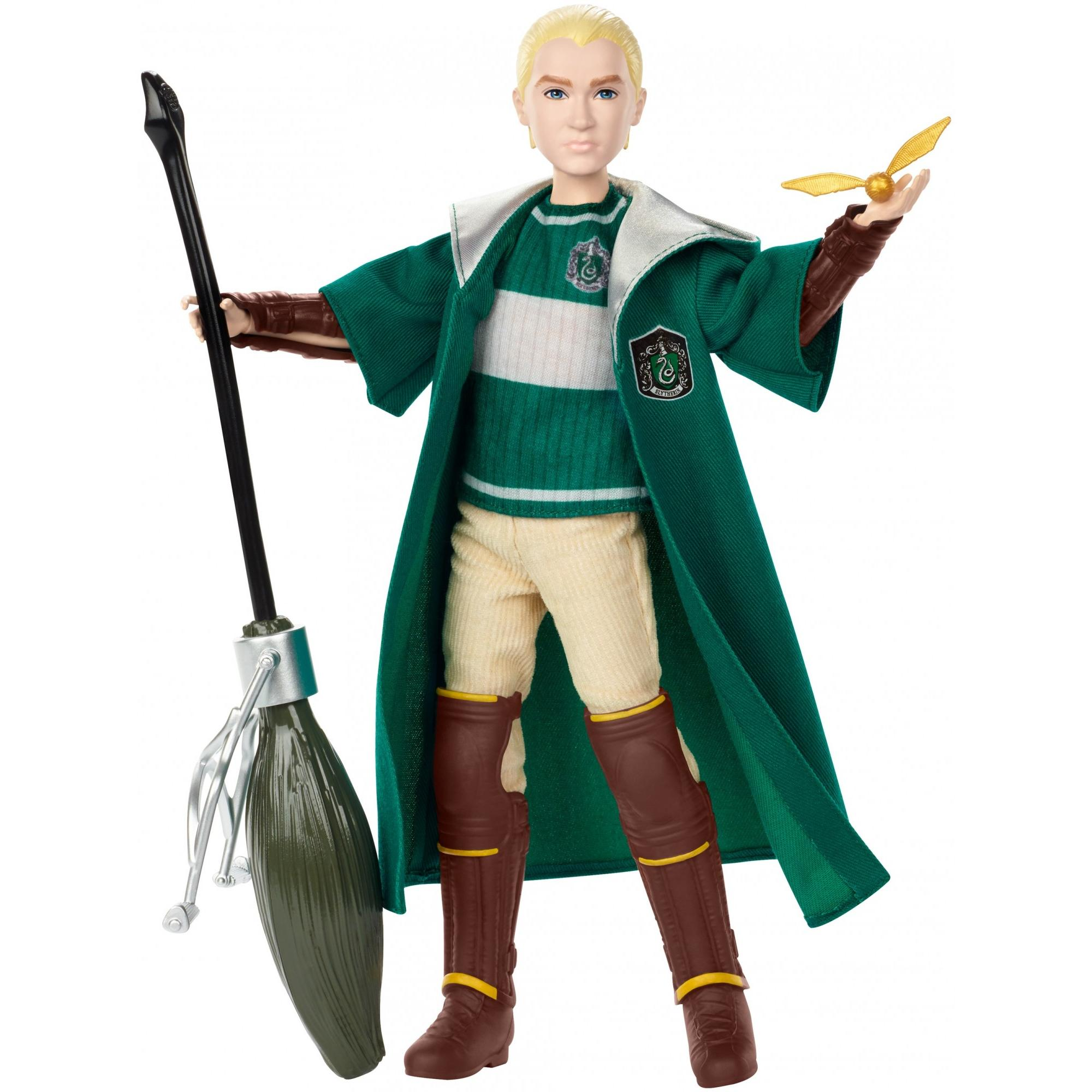 Harry Potter Quidditch Draco Malfoy Doll with Nimbus 2001 Broomstick by Mattel