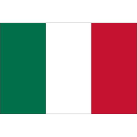 Outdoor Italian - Eder Flag 32121 3 x 5 ft. 200 Denier Nylon Italy Outdoor Flag