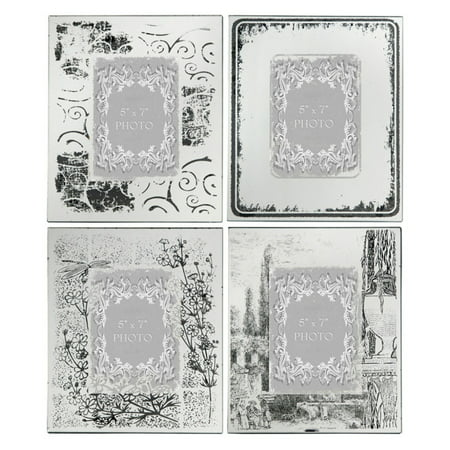 A and B Home Ornate Rectangular Picture Frames - Set of 4 - Walmart.com