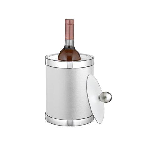 Sophisticates White W/ Polished Chrome 3 Qt Ice Bucket W/ Bale Handle,& Lucite Cover - image 1 de 1
