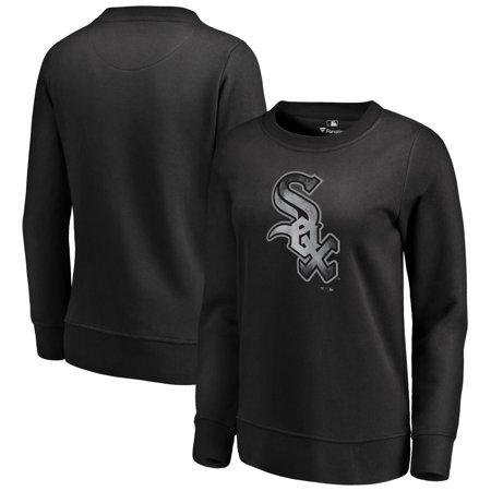 Chicago White Sox Fanatics Branded Women's Core Smoke Fleece Sweatshirt - Black