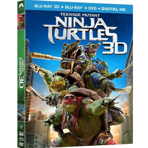 Teenage Mutant Ninja Turtles (2014) (3D Blu-ray + Blu-ray + Digital HD)