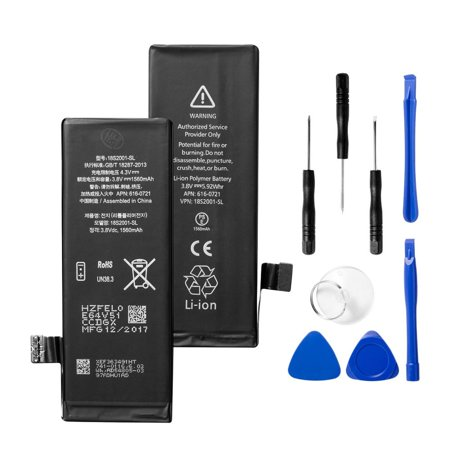 iPhone 5s Replacement Battery, by Insten 3.8V 1560mAh liiion Internal Replacement Battery kit for Apple iPhone 5s (with Replace Parts iPhone Tool Kit Included) (Battery For Iphone 4 Model A1349)