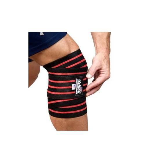 78 in. Line Knee Wraps in Black