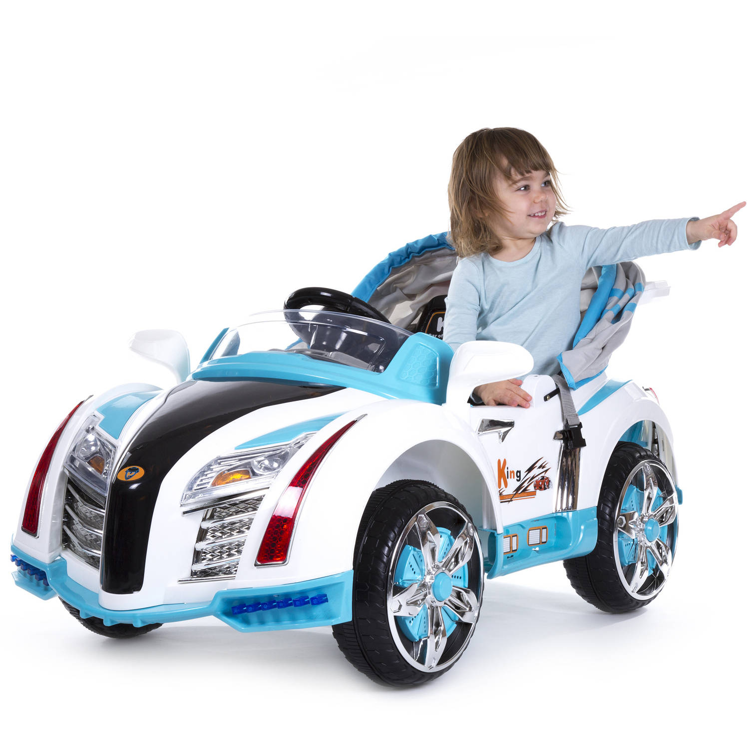 Rockin' Rollers Pre-Assembled Battery Operated Car with Canopy