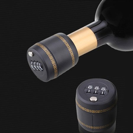 Wine Whiskey Liquor Bottle Top Securely Closed Portable Indoor Password Code Combination Lock (Best Portable Password Manager)