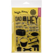 """Waffle Flower Crafts Clear Stamps, 4"""" x 6"""", Hey Mr"""