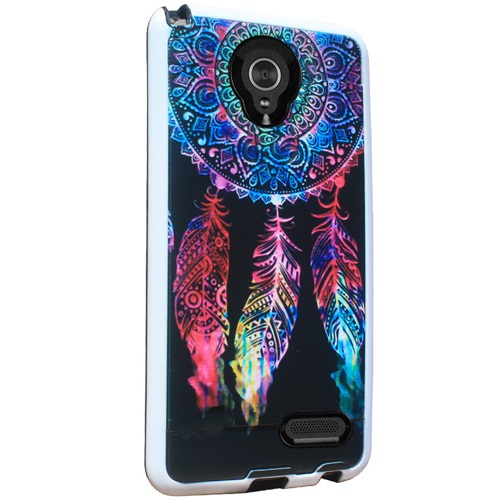 Mundaze Colorful Dreamcatcher Brushed Armor Anti-Shock Case For ZTE Warp 7 / Grand X3 Phone