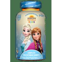 Sundown Naturals Kids Disney Frozen Complete Multivitamin Gummies, Strawberry Watermelon Raspberry, 200 Ct