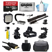 Ultimate 16GB Accessory Bundle for GoPro HERO4 Hero 4 Black Silver Edition 3 3+