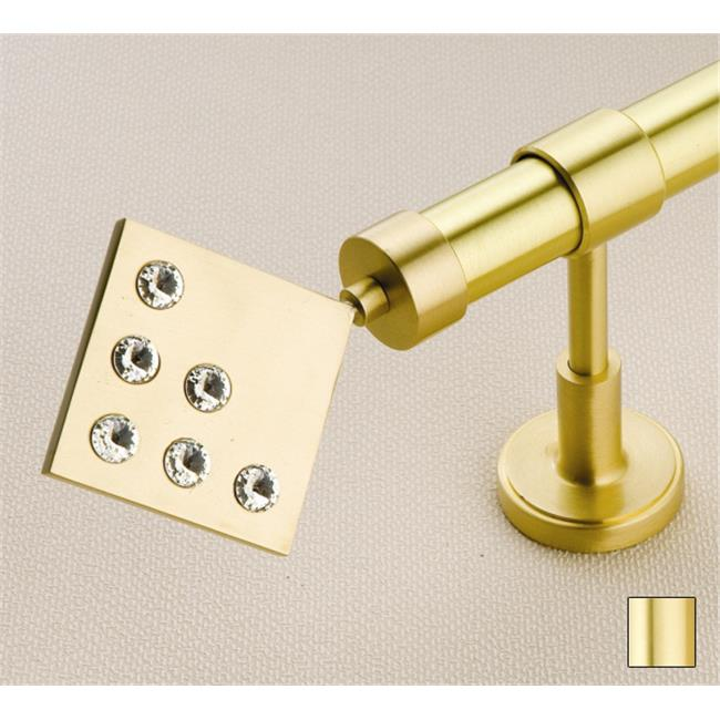 WinarT USA 8. 1034. 20. 03. 200 Hera 1034 Curtain Rod Set -. 75 inch - Matte Brass - 78 inch