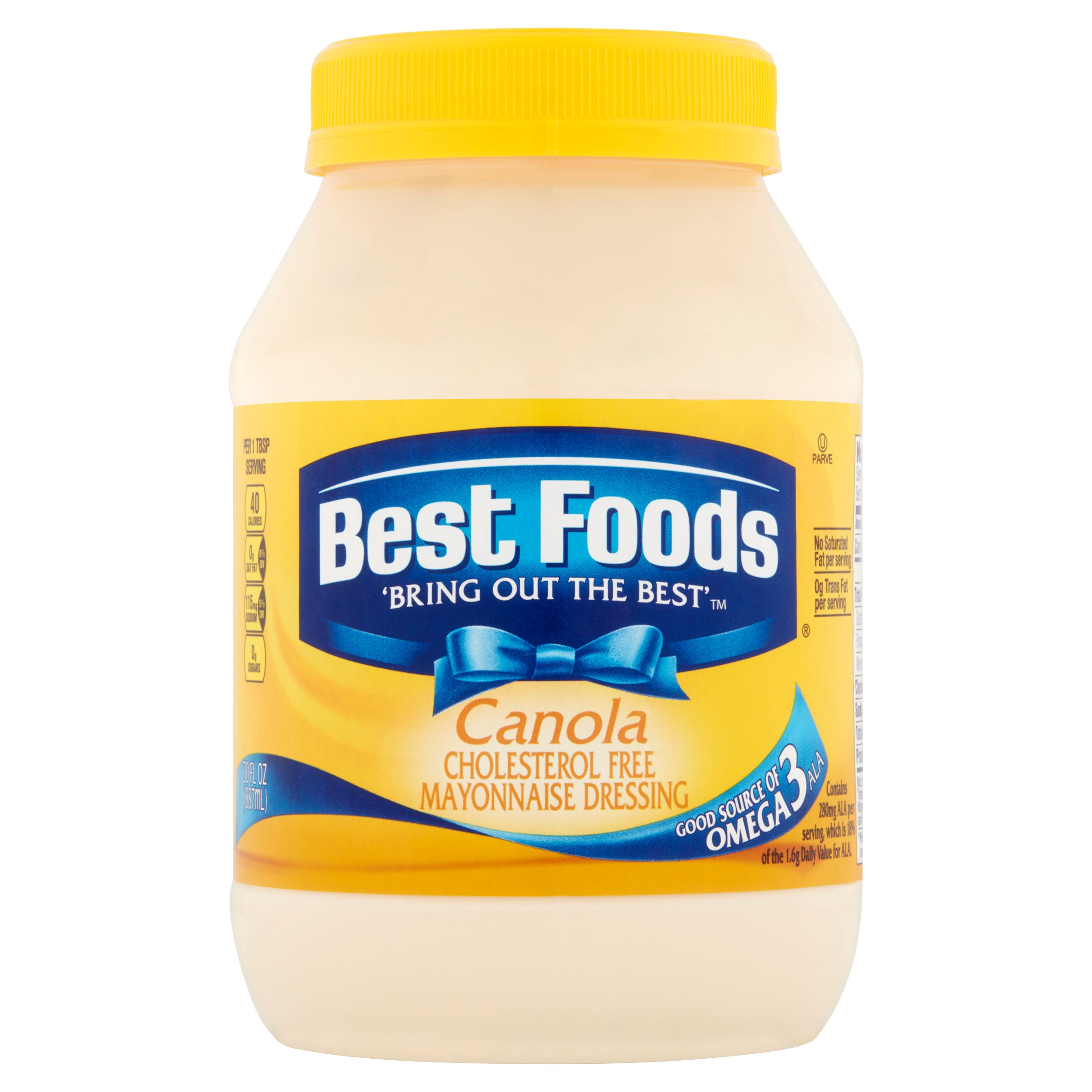 Best Foods Canola Cholesterol Free Mayonnaise Dressing, 30 oz