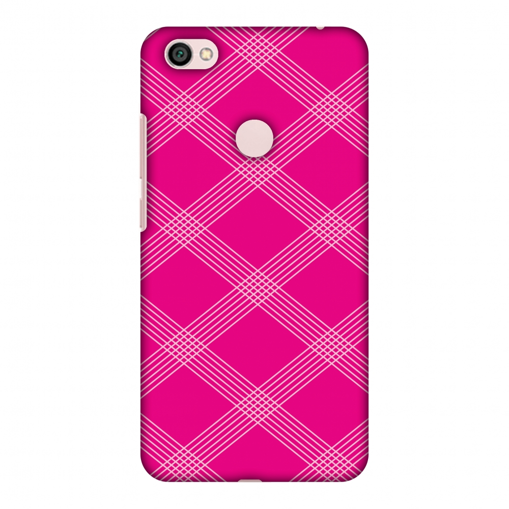 Xiaomi Redmi Note 5A Prime Case - Carbon Fibre Redux Hot Pink 5, Hard Plastic Back Cover, Slim Profile Cute Printed Designer Snap on Case with Screen Cleaning Kit