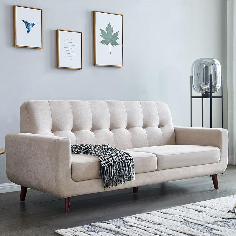 Clearance!Beige Mid Century Modern Sofa, 79