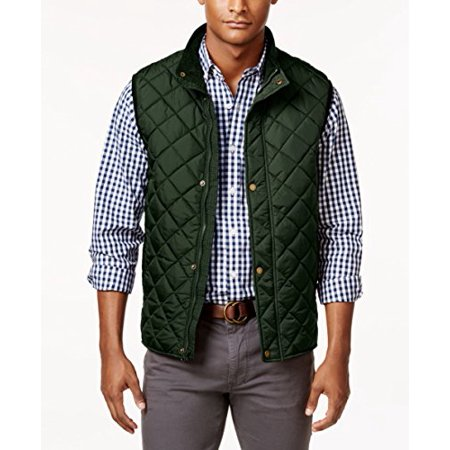 Club Room Men's Big & Tall Zip and Snap Quilted Vest (Duffel Bag, 4XLT)