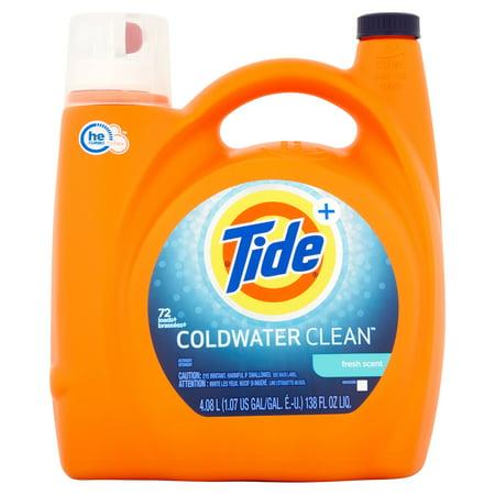 Tide   Coldwater Clean Fresh Scent Detergent  72 Loads  138 Fl Oz