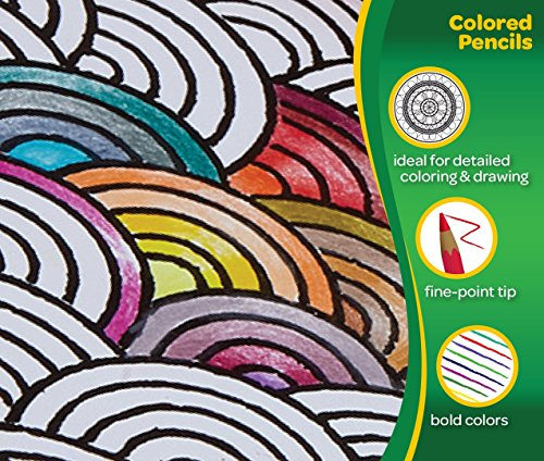 Crayola Adult Coloring Colored Pencils 50//Pack 68-0050