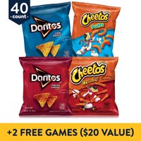 Deals on 40 Count Frito-Lay Doritos & Cheetos Mix Variety Pack + 2 Free Games