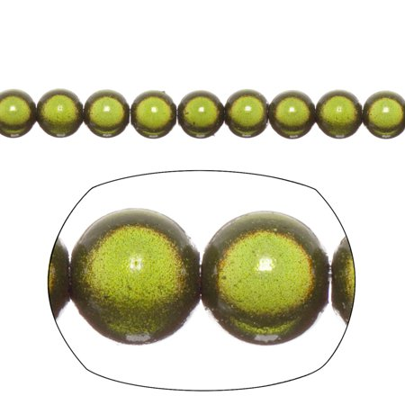 Miracle Beads, 8mm Round, Olive Green 77 beads per pack (2-pack Value Bundle), SAVE (Green Miracle Beads)