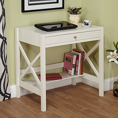 Trestle Desk White Is A Small Corner