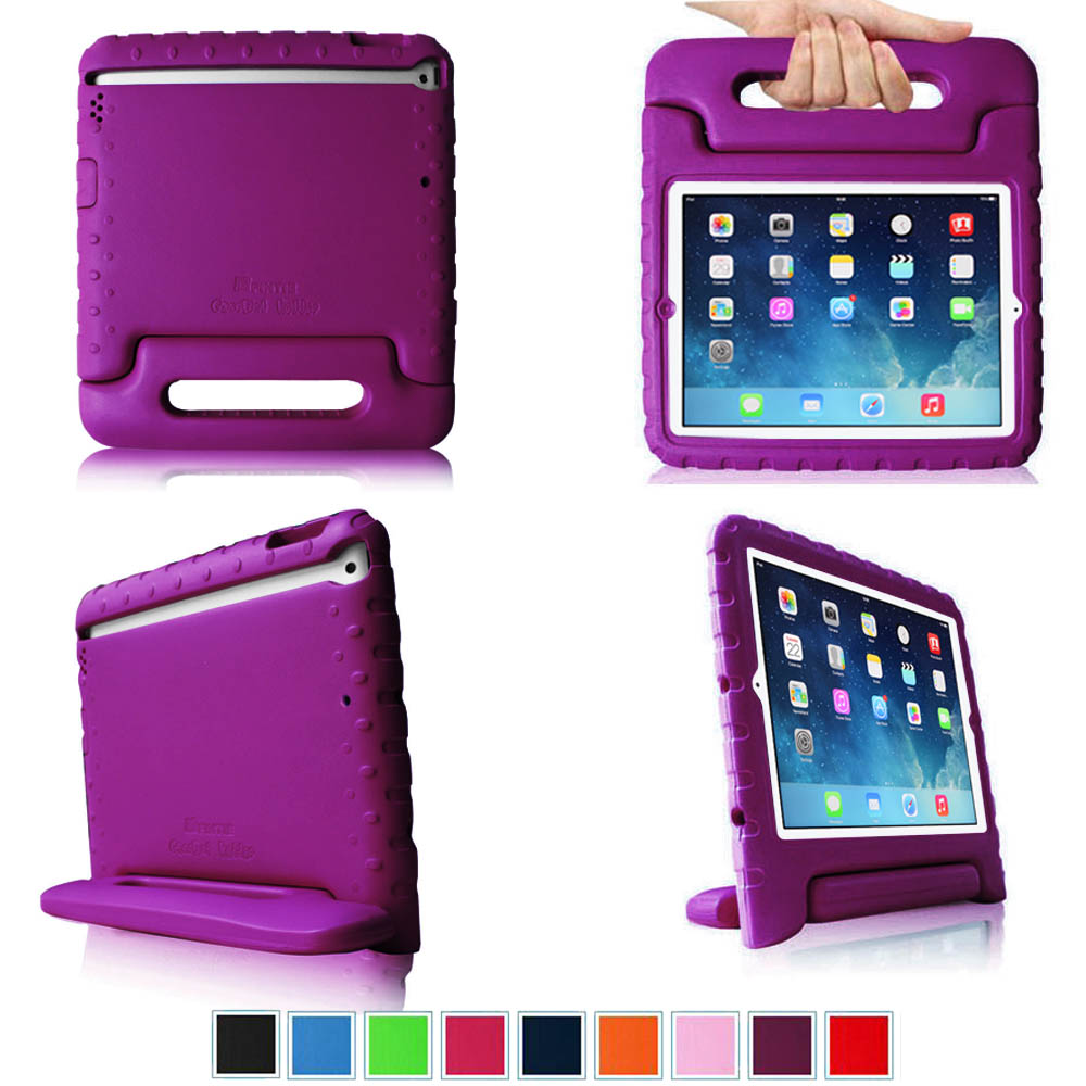 Fintie iPad Air Kiddie Case - Lightweight Shockproof with Convertible Handle Stand Kids Friendly Cover, Purple
