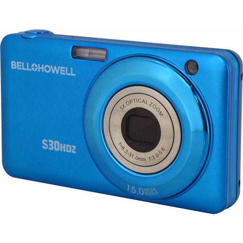 Bell+Howell Blue S30HDZ Digital Camera with 15 Megapixels and 5x Optical Zoom