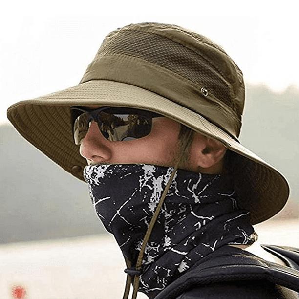 Retro Waterproof Bucket Hat Men Women Boonie Outdoor UV Protection Wide Brim Cap