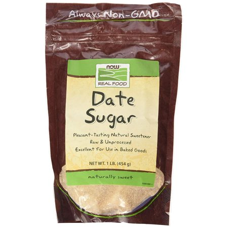 Date Sugar, 1 lb, 1 Pounds Bag By NOW Foods 1 Lb Bag Cooked Food