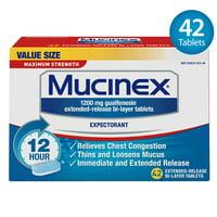 Mucinex Maximum Strength 12Hr Chest Congestion Expectorant Tablets, 42 Ct