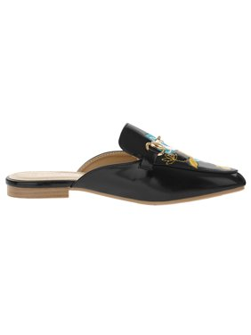 Victoria K Women's Embroidered Flower Mules