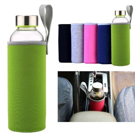 18.6oz Portable Water Bottle Sleeve Neoprene Water Bottle Cover Drink Bottle Sleeve Glass Bottle Protector for Travel Outdoor Activities,