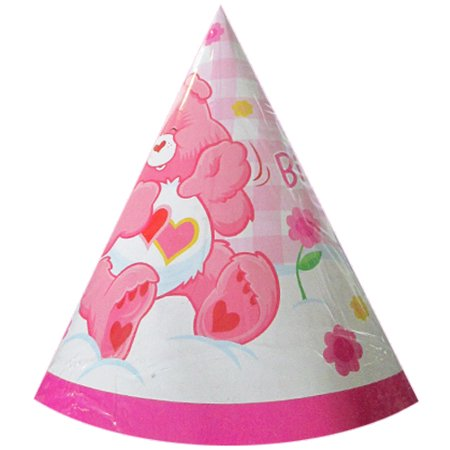 Care Bears Girls 1st Birthday Party Cone Hats 8ct