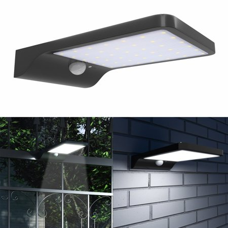 Ktaxon 42 Led Gutter Solar Lights Outdoor Security Lighting Motion Sensor 3 In 1 Mode Off