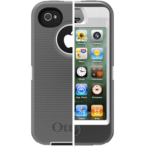 walmart iphone 4s otterbox defender for iphone 4 4s white gray 13270
