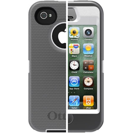 OtterBox Apple IPhone 4 4s Case Defender Series Gray White