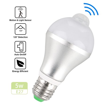Indoor Outdorr 5w 7w E27 Dusk To Dawn Motion Sensor Led Bulb