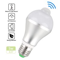 Indoor/Outdorr 5W 7W E27 Dusk to Dawn Motion Sensor LED Bulb Activated Light