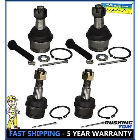 4 Pc Kit Front Upper & Lower Ball Joint Ford Explorer Ranger Bronco II 4WD (Ford Explorer Stuck In 4 Wheel Drive)