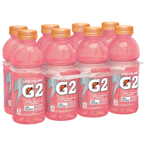 Gatorade G2 Raspberry Lemonade Low Calorie Thirst Quencher Sports Drink, 20 fl oz, 8 pack